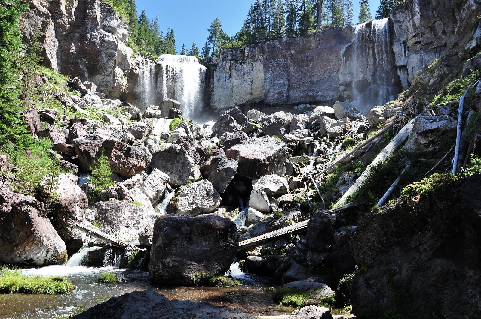 Photo of Paulina falls and lake. Newberry National Volcanic Monument