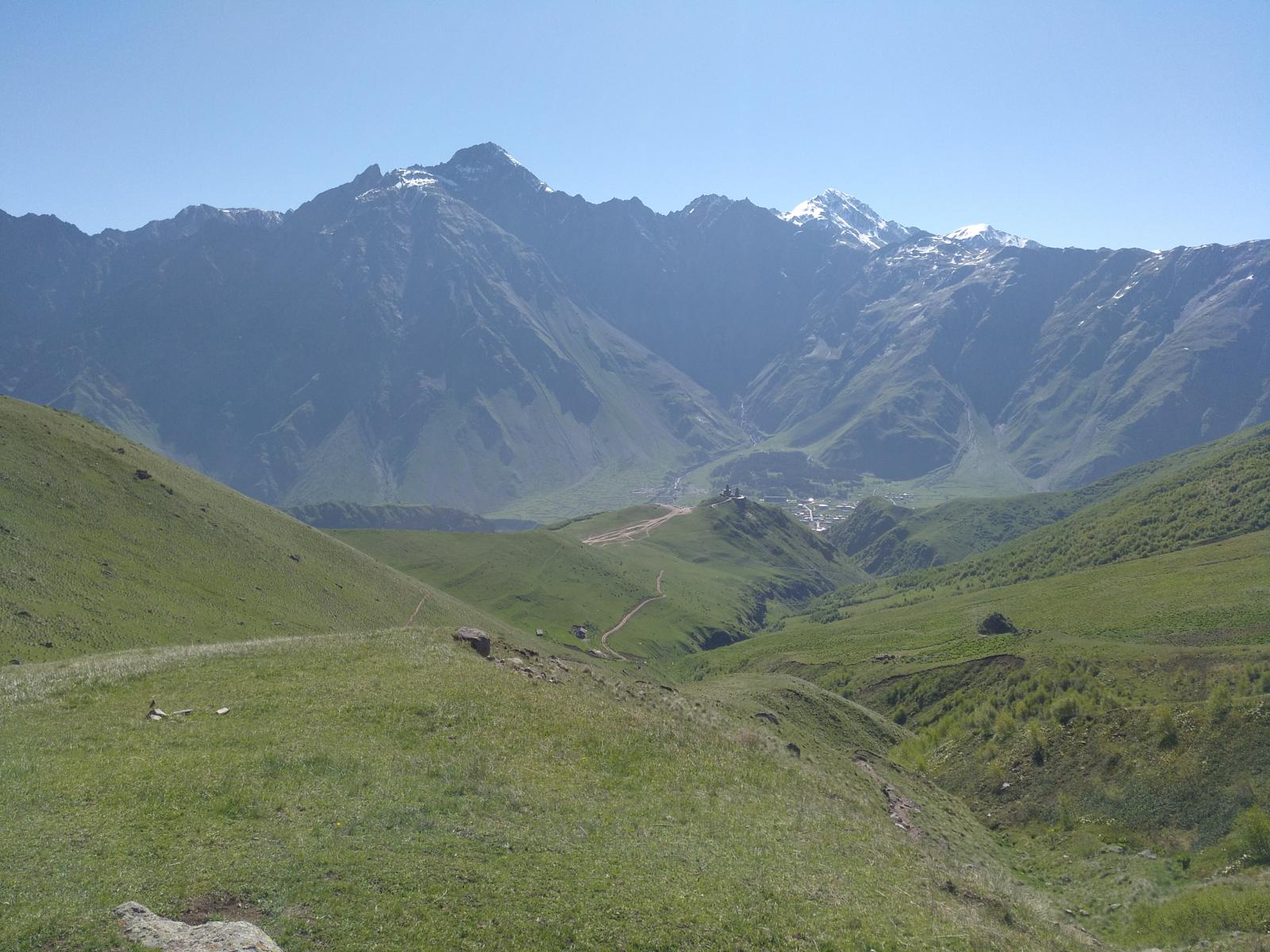 Photo of Kazbegi glaciar gergegti