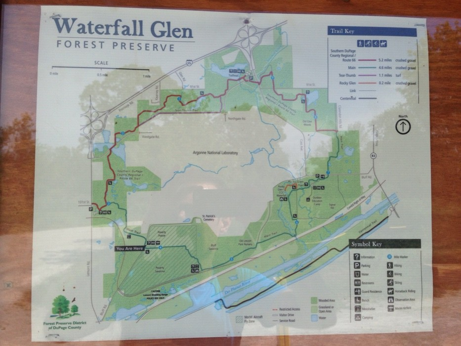 mynd af Waterfall Glen-Fast paced 10 mile hike