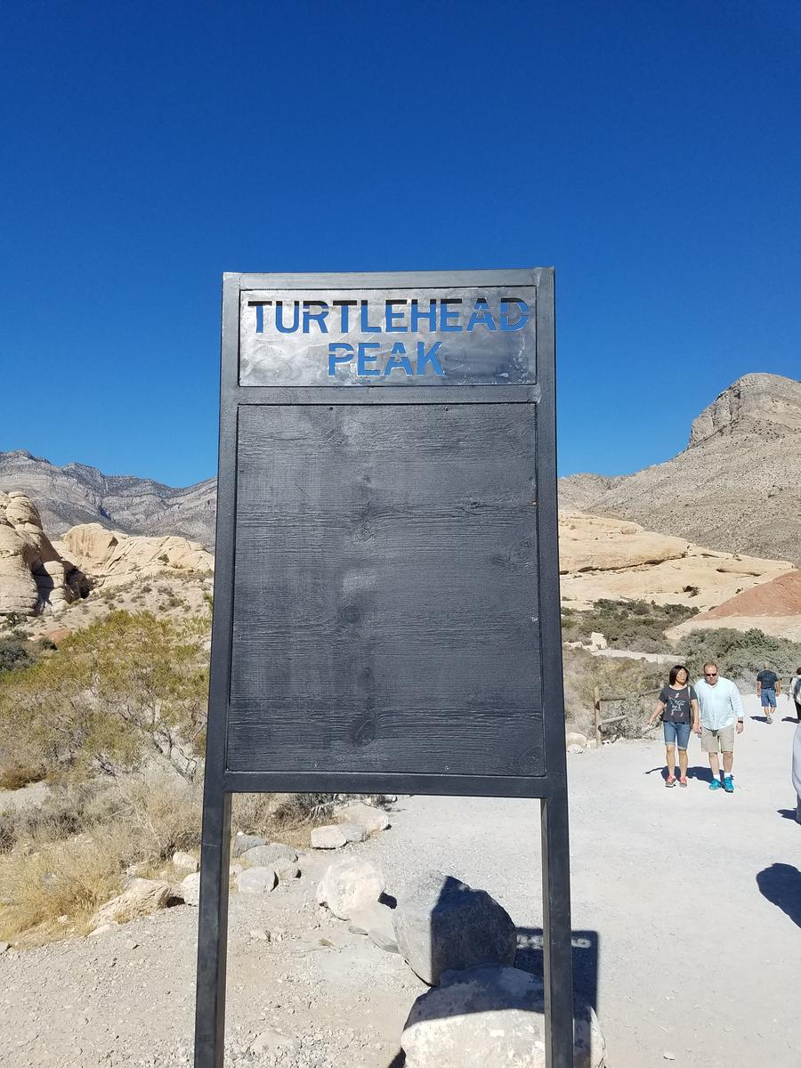的照片 Turtle head trail Las Vegas Nevada