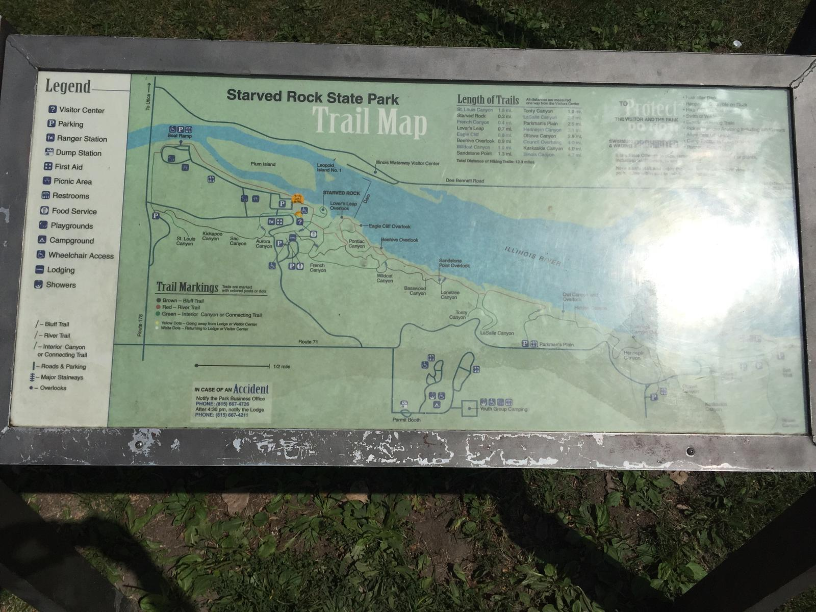 Wikiloc | Picture of Carte / Map @ Starved Rock State Park (1/1)