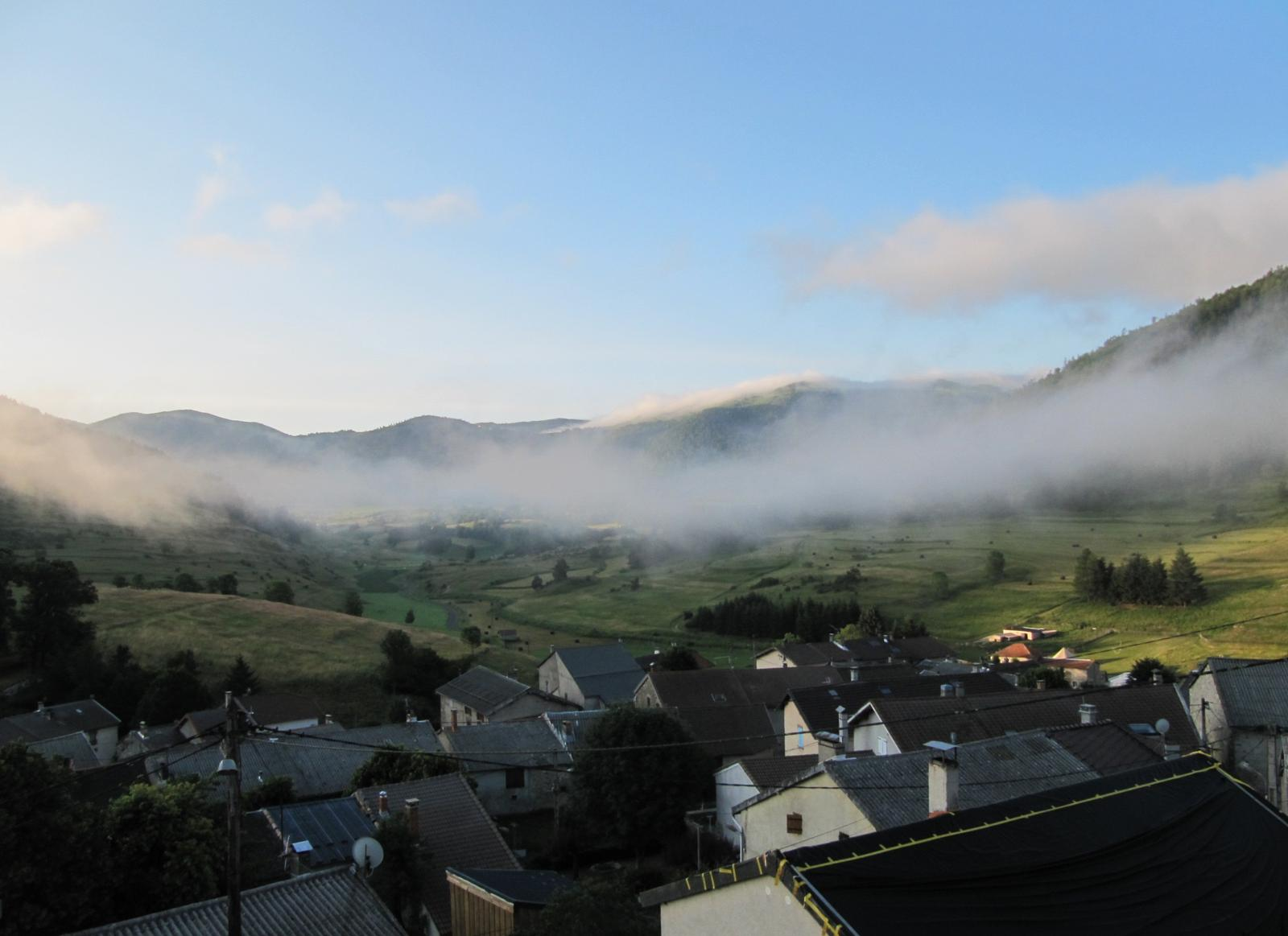 Photo de morning view from the gîte