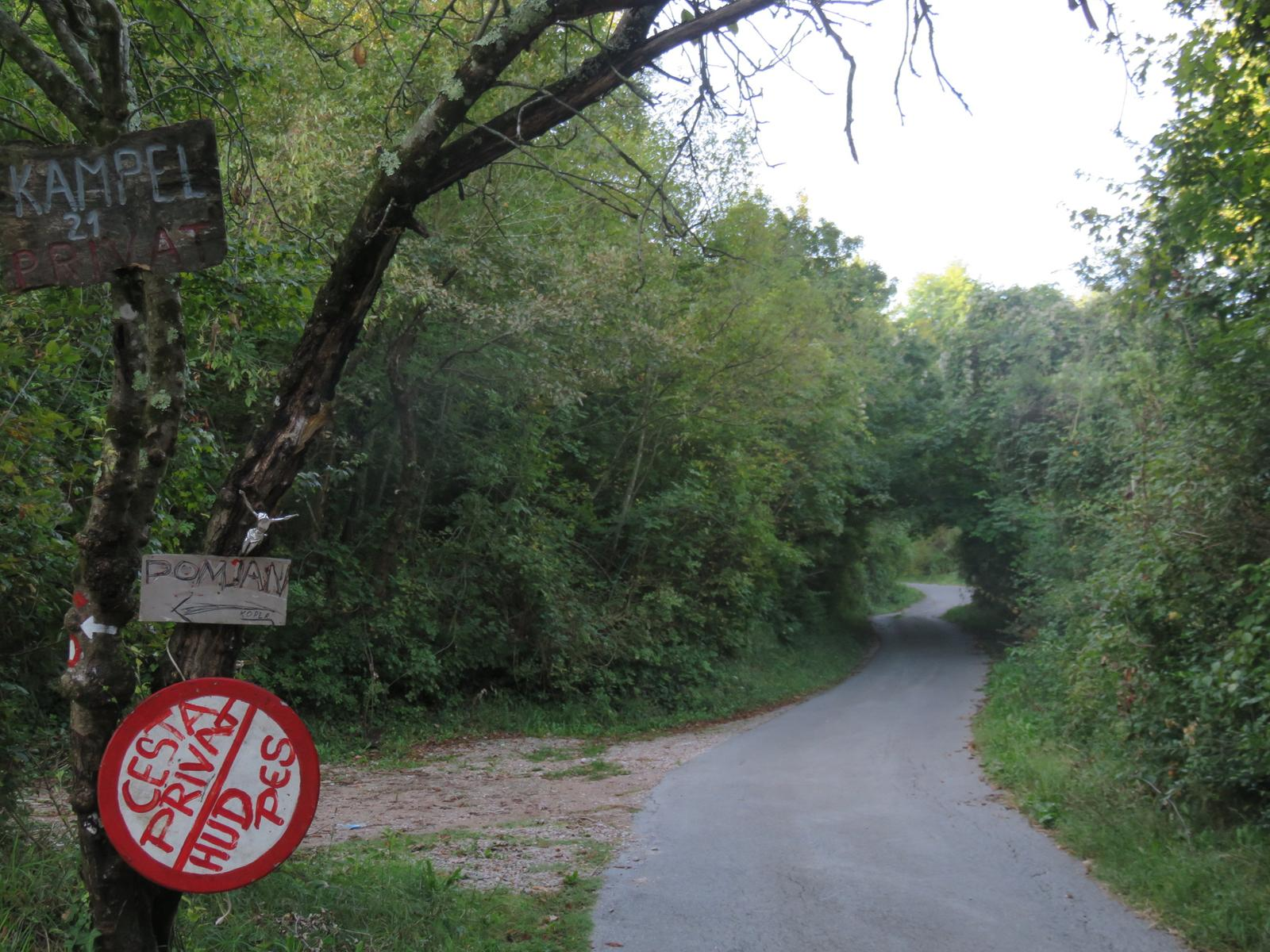 Foto di right was danger, so we went left (with waymarks)